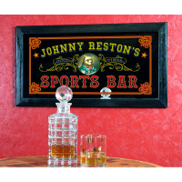 Old Fashioned Personalized Sports Bar Mirror