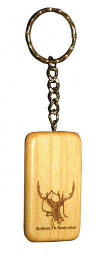 Custom Wood Key Chain - Rectangle