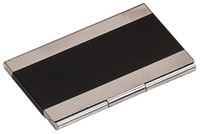 Laser Engraved Business Card Case - Black