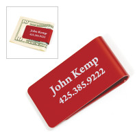 Company Logo Money Clip | Red