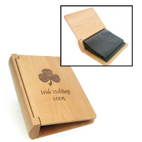 Personalized Wood Photo Album in Maple