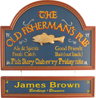 Fisherman&#039;s Pub Sign Personalized