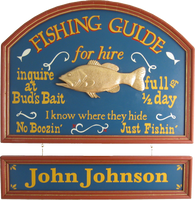 Fishing Guide Personalized Sign
