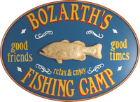 Fishing Camp Sign Personalized
