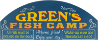 Large Personalized Fishing Sign
