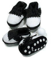 Baby Golf Slippers in Black
