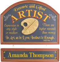 Artist Gift | Artist Wall Decor | Artist Plaque