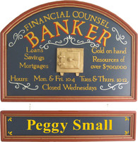 Banker Gift | Banker Sign | Banking Sign