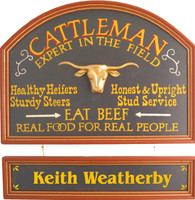 Rancher Gift | Rancher Sign | Cattleman Plaque