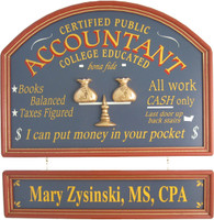 Accountant Gift | Accountant Sign | CPA Plaque