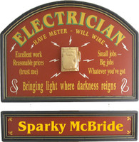 Electrician Gift | Electrician Sign | Electrician Plaque