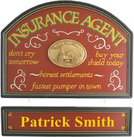 Insurance Agent Sign | Insurance Agent Plaque | Office Decor