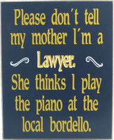 Lawyer Sign | Law Office Sign | Lawyer Gift