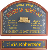 Physician Assistant Sign | Doctor Assistant Sign | Office Gift