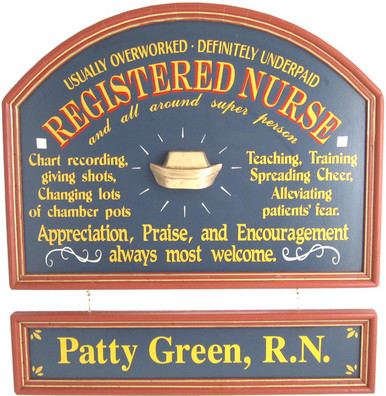 Registered Nurse Gift Sign | Nurse Custom Sign | Medical Office Gifts