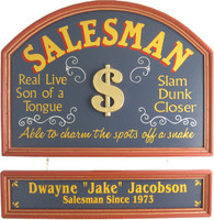 Salesman Gift Sign | Salesman Custom Sign | Office Gifts