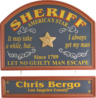 Sheriff Sign | Sheriff Gift | Sheriff Plaque