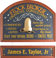 Stock Broker Gift | Financial Consultant Sign | Custom Plaque