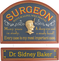 Surgeon Sign | Surgeon Gift | Doctor Gift