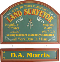 Surveyor Gift | Surveyor Sign | Custom Plaque