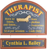 Therapist Sign | Therapist Plaque | Therapist Gift