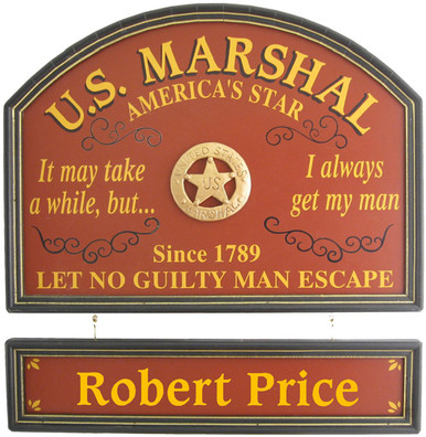 US Marshal Sign | U.S. Marshal Plaque | Custom US Marshal Gift