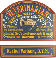Veterinarian Sign | Veterinarian Gift | Veteranarian Custom Plaque