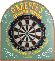 Custom Dartboard | Billiard Parlor Dartboard | Game Room Dartboard