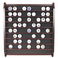 72 Golf Ball Display Rack in Rosewood