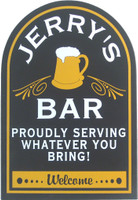 Custom Home Bar Sign