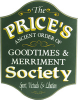 Goodtimes &amp; Merriment Custom Home Bar Sign | Pub Signs