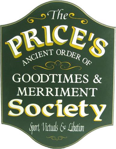 Goodtimes & Merriment Custom Home Bar Sign | Pub Signs