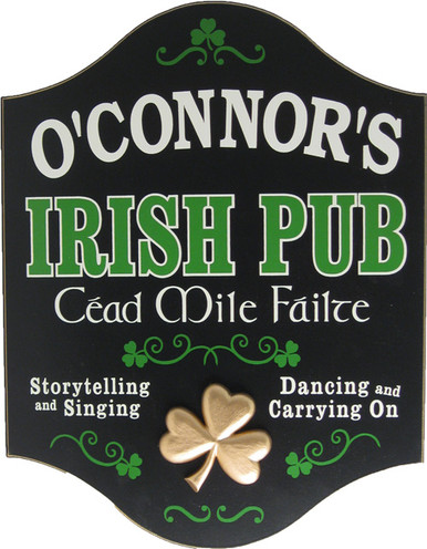 Personalized Irish Pub Sign | Custom Irish Sign