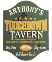 Touchdown Tavern Custom Football Pub Sign