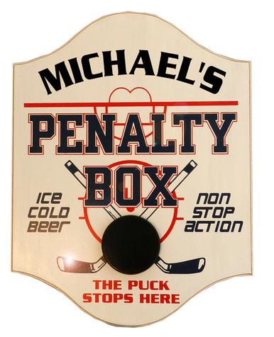 Penalty Box Custom Hockey Pub Sign