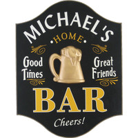 Home Bar Custom Man Cave Sign | Tavern Plaque Personalized