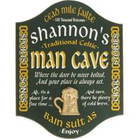 Irish Man Cave Sign Personalized