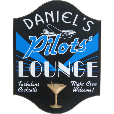 Pilots Lounge Sign Personalized