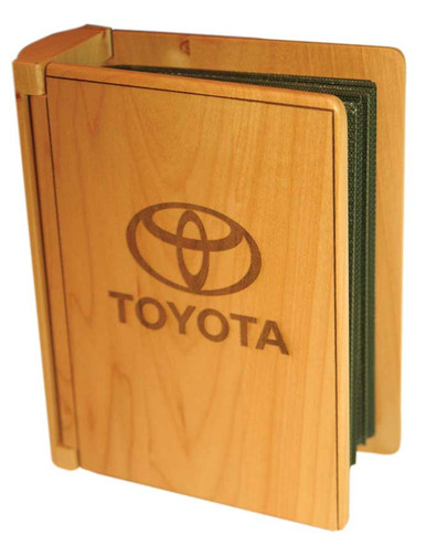 Personalized Wood Photo Album in Maple | Logo Engraving