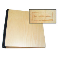 Personalized Photo Album in Baltic Birch with Natural Finish