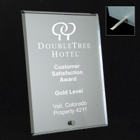 Laser Engraved Mirrored Glass Plaque 4x6