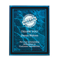 Laser Engraved Acrylic Plaque Blue 9x11 | Laser Engraved Plaques
