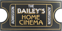 Personalized Home Cinema Movie Ticket Plaque