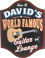 Personalized World Famous Guitar Lounge Plaque