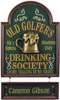 Personalized Golfer's Drinking Plaque