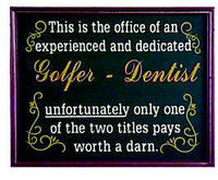 Golfer Office Plaque Personalized