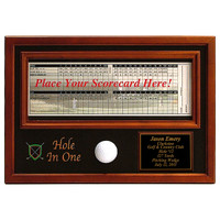 Personalized Hole In One Ball &amp; Scorecard Display