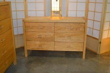 dresser 6 drawer solid wood bedroom furniture
