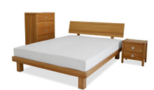 Citana Bed Frame, shown with Zentai 17.5 cm Essential Latex Mattress and Vienna Bed Sides and Vienna Tallboy