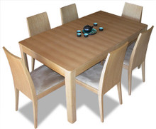 LUMIS dining table, shown with 6 chairs